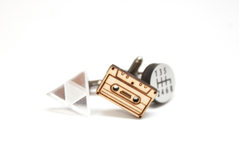 lasercut cufflink 2