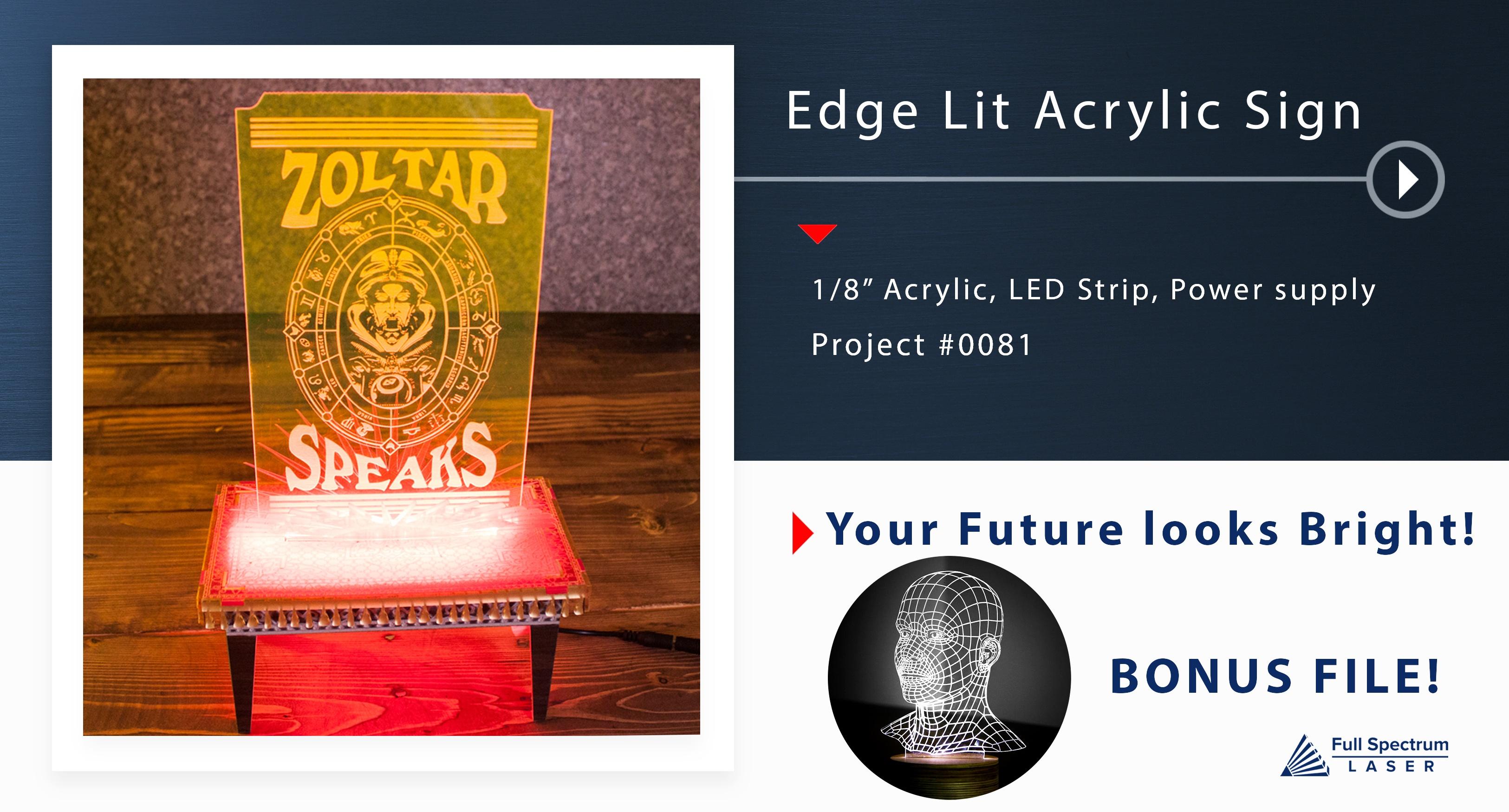 0081 Edge Lit Acrylic Light