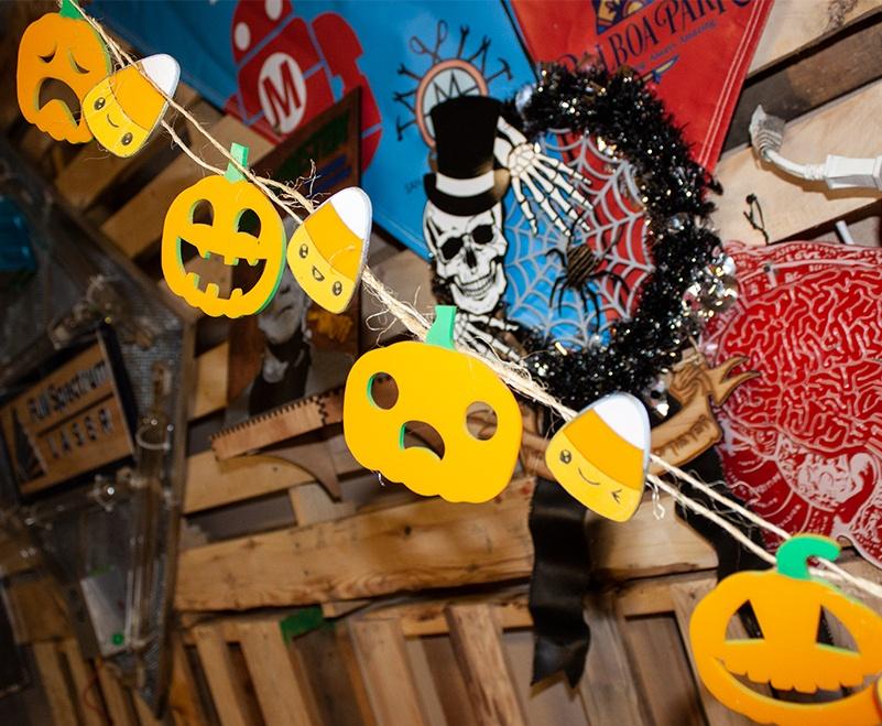 laser cut pumpkin candycorn garland