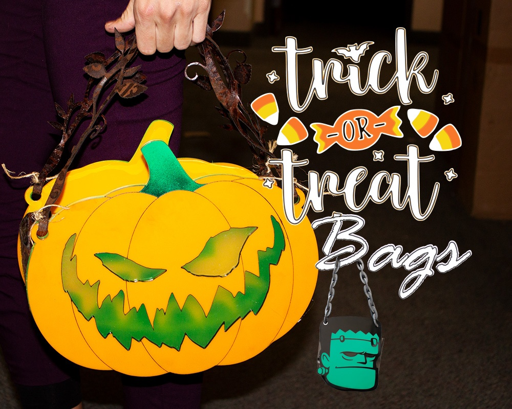 Laser cut trick or treat bags halloween-1