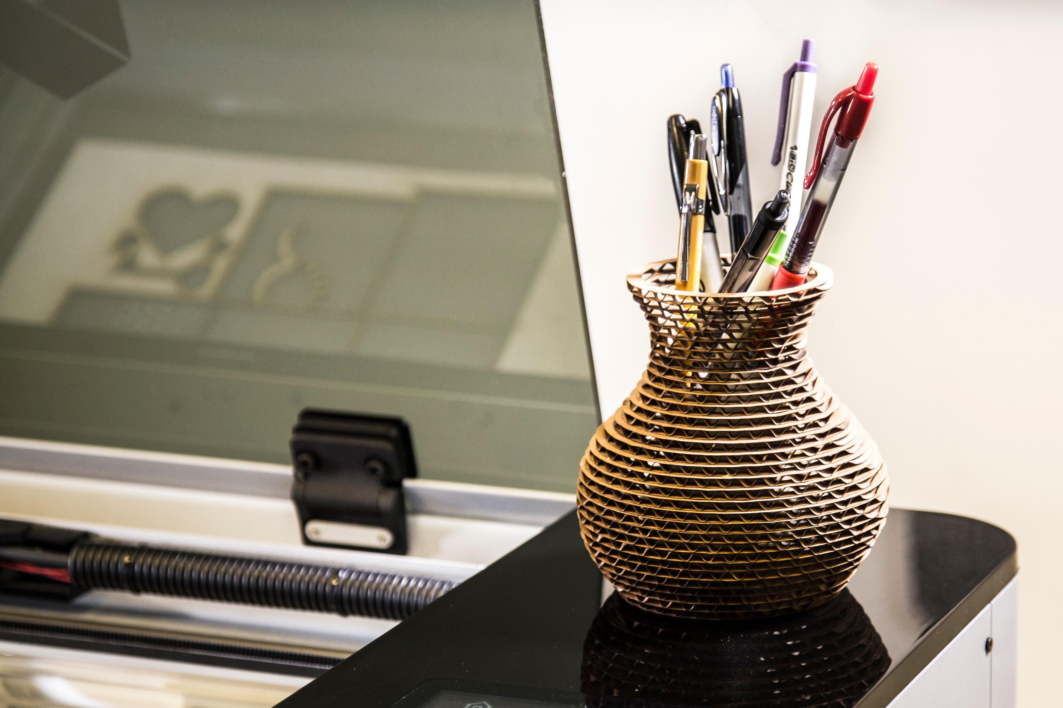 Cardboard Stacked Vase Laser 101 Header-1