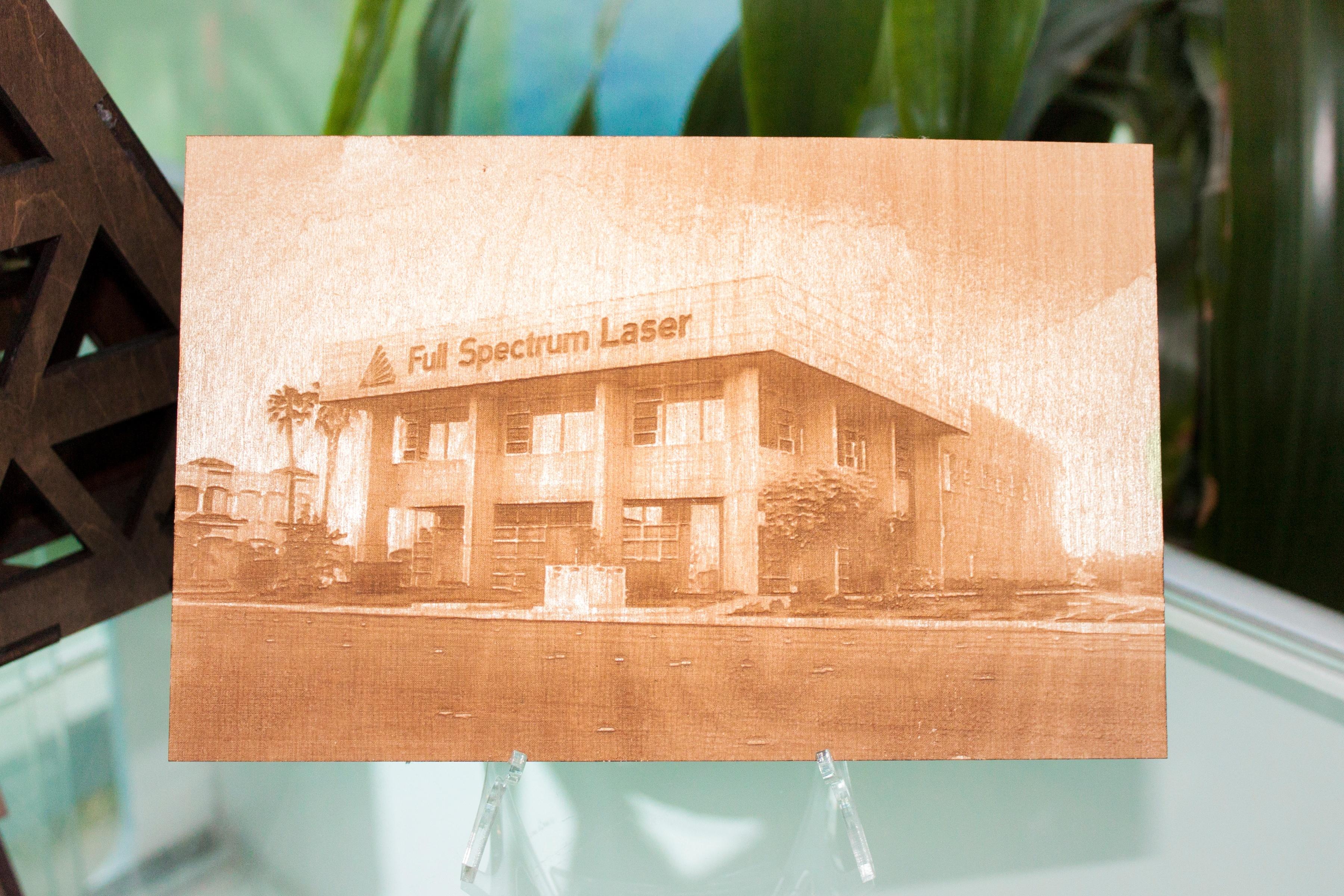 Full Spectrum Laser 101 Raster Engraving