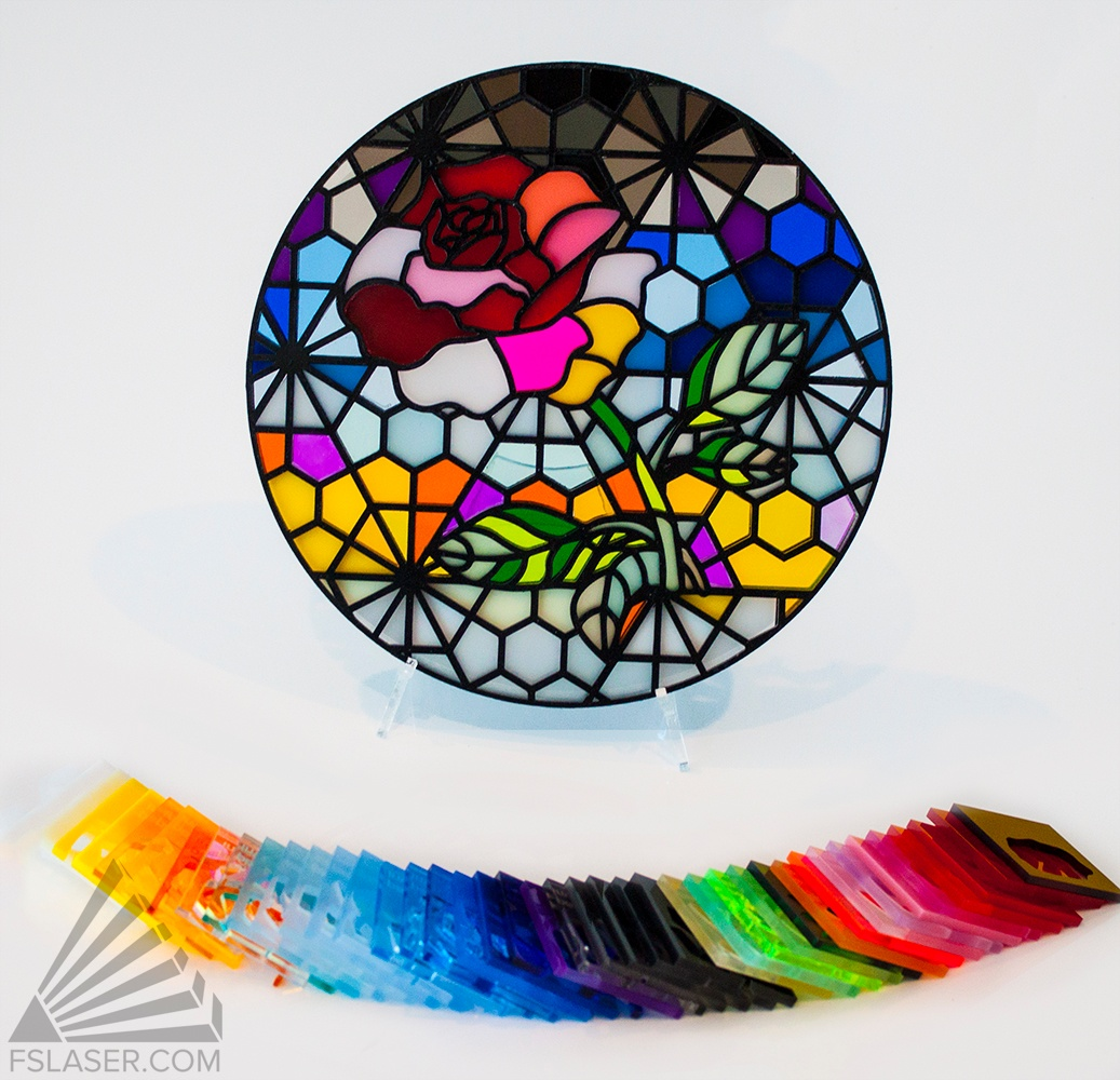 """Laser Cut Stained """"Glass"""""""